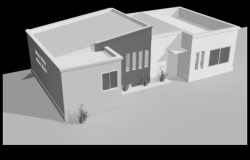 Displaced persons 3 D housing plan detail