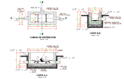 Distribution camera plan and section autocad file