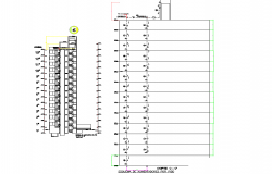 Distribution networks cold water and hot water section plan dwg file