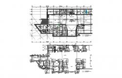 Distribution plan and foundation plan details of industrial unit dwg file