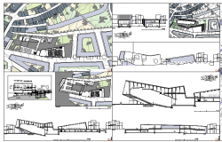 District Art Center Design and Elevation dwg file