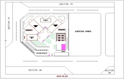 District administration building site plan dwg file