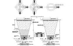 Ditch and canal typical detail dwg file