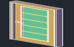 Door 3 D elevation detail dwg file