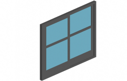 Door 3d view for size of 180x210