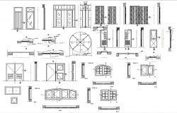 Door And Window CAD Blocks