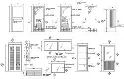 Door And Window Elevation Blocks