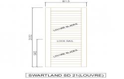 Door Block Detail in the DWG file