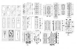 Door CAD blocks detail elevation layout autocad file