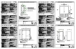 Door Elevation & Section Frame detail