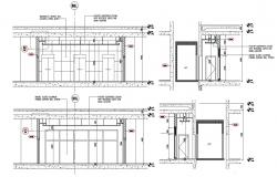Door Elevator Elevation Design DWG File