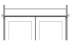 Door Frame Design and Elevation dwg file