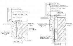Door Section Detail DWG File