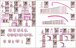 Door and window design view for residential building dwg file