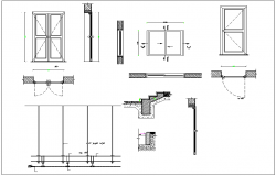 Door and window detail view dwg file