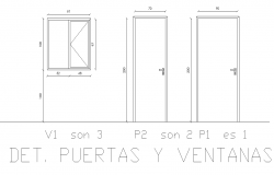 Door and window elevation detail autocad file