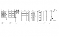 Door and window elevation plan dwg file