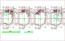 Door and window schedule and view in floor plan dwg file