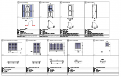 Door and window schedule plan detail dwg file