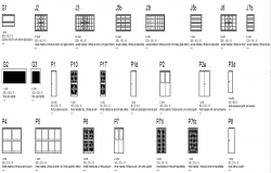 Door and window sectional detail dwg file