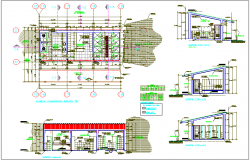 Door & window view, its schedule for collage stadium area dwg file