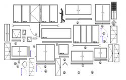 Door and windows dwg file