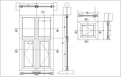 Door block dwg file