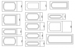 Door design blocks details dwg file
