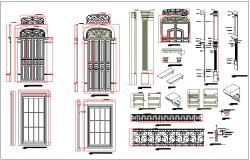 Door design detail dwg file