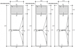 Door design in AutoCAD