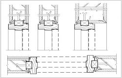 Door detail dwg file
