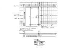 Door detail structure CAD blocks layout file