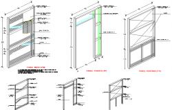 Door elevation detail dwg file