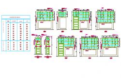 Door elevation detail working plan detail dwg file