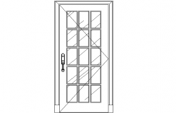 Door elevation details