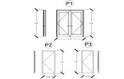Door elevation dwg file