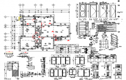 Door farming elevation and layout plan detail dwg file