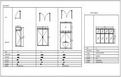 Door framing plan and elevation detail dwg file