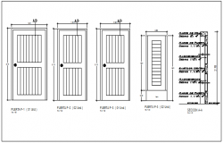 Door framing plan and window framing plan elevation detail dwg file