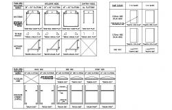Door gate elevation and section blocks cad drawing details dwg file