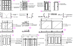 Door installation details of building dwg file