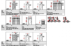 Door installation details of corporate office dwg file