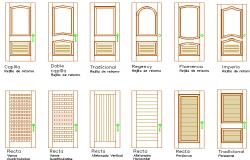 Door installation details of house dwg file