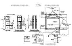 Door operator and ventilation and installation cad drawing details dwg file