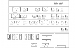 Door plan and elevation detail dwg file