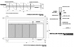 Door plan and elevation dwg file