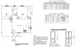 Door plan and elevation layout file