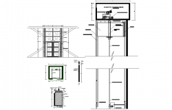Door plan and section detail dwg file