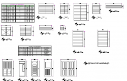 Door plan and section detail layout file