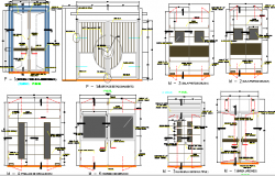 Door plan construction details of hospital dwg file